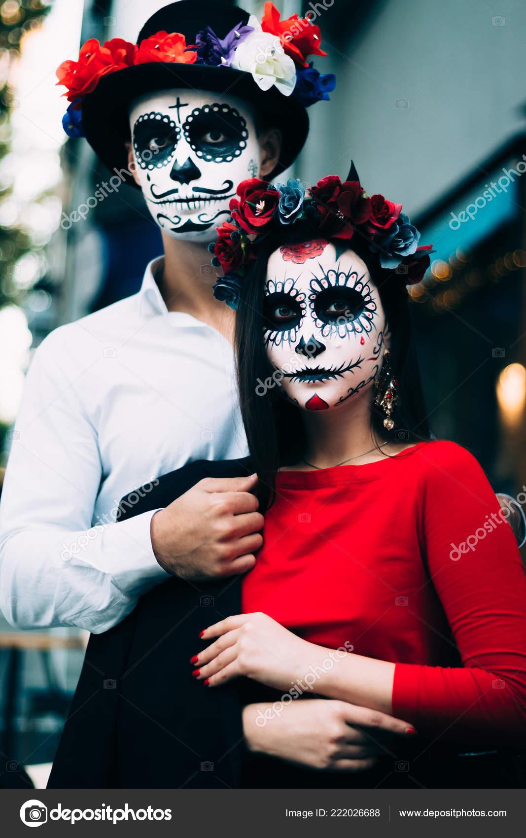 Halloween Make Up Men.Santa Muerte Make Up Man Santa Muerte Couple Man Woman