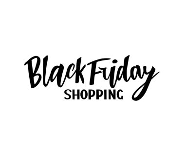 Vector illustration of hand lettering modern brush calligraphic lettering of text Black Friday shopping
