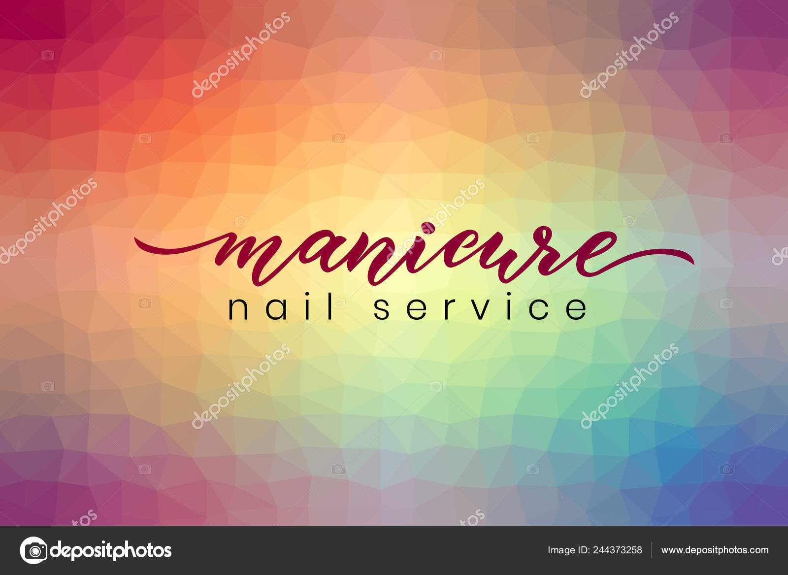 Hand Schriftzug Maniküre Nagel Service Auf Abstrakte