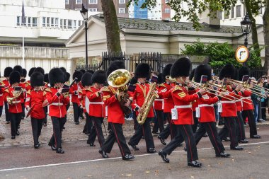 September 20, 2014, London, Great Britain, The Military Band of the Royal Guards marches