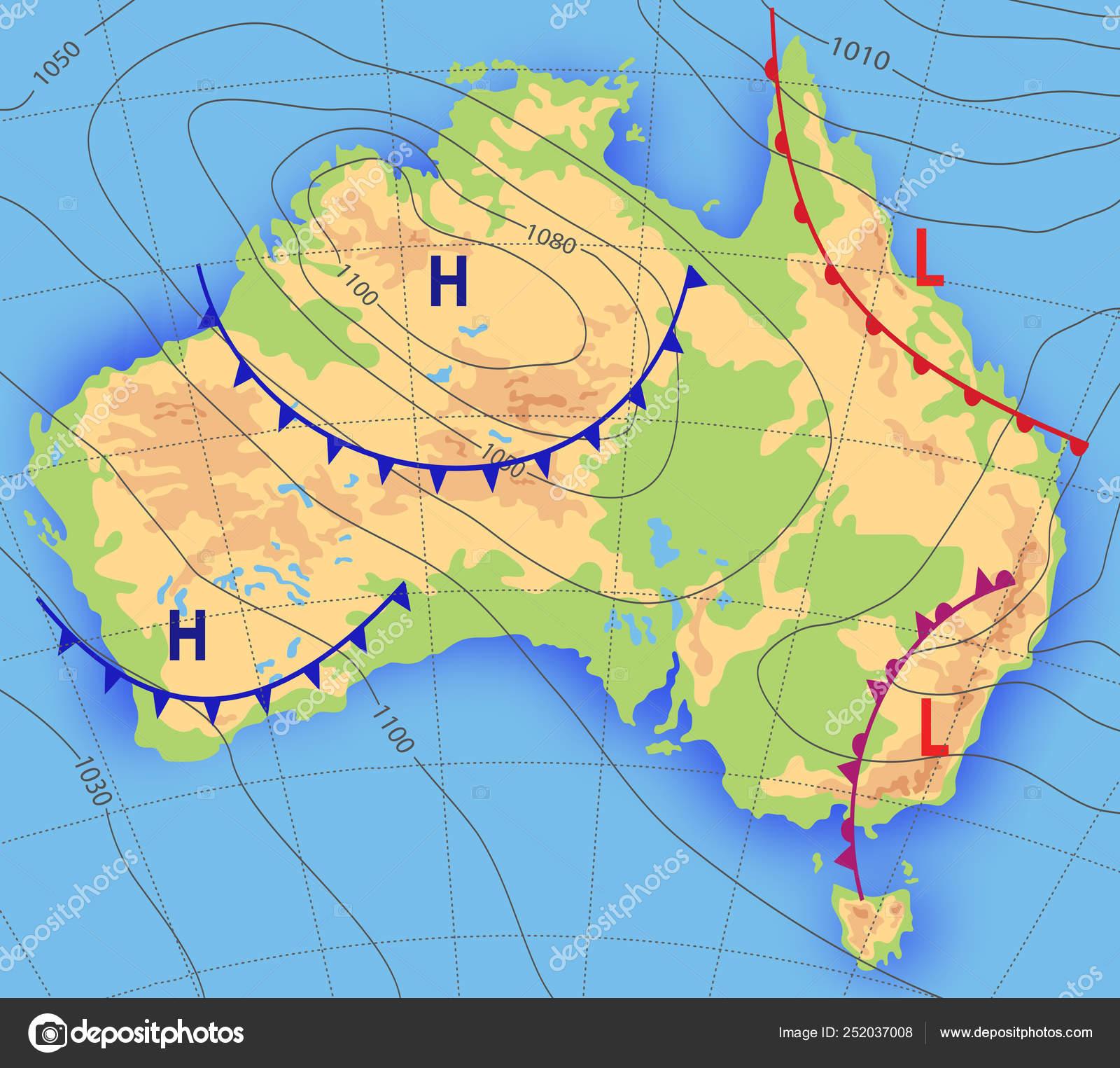 Cartina Fisica Dell Australia.Previsioni Meteo Mappa Meteo Meteorologica Dell Australia