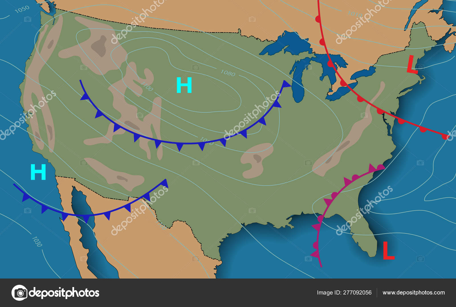 Weather Forecast Meteorological Weather Map Of The United State
