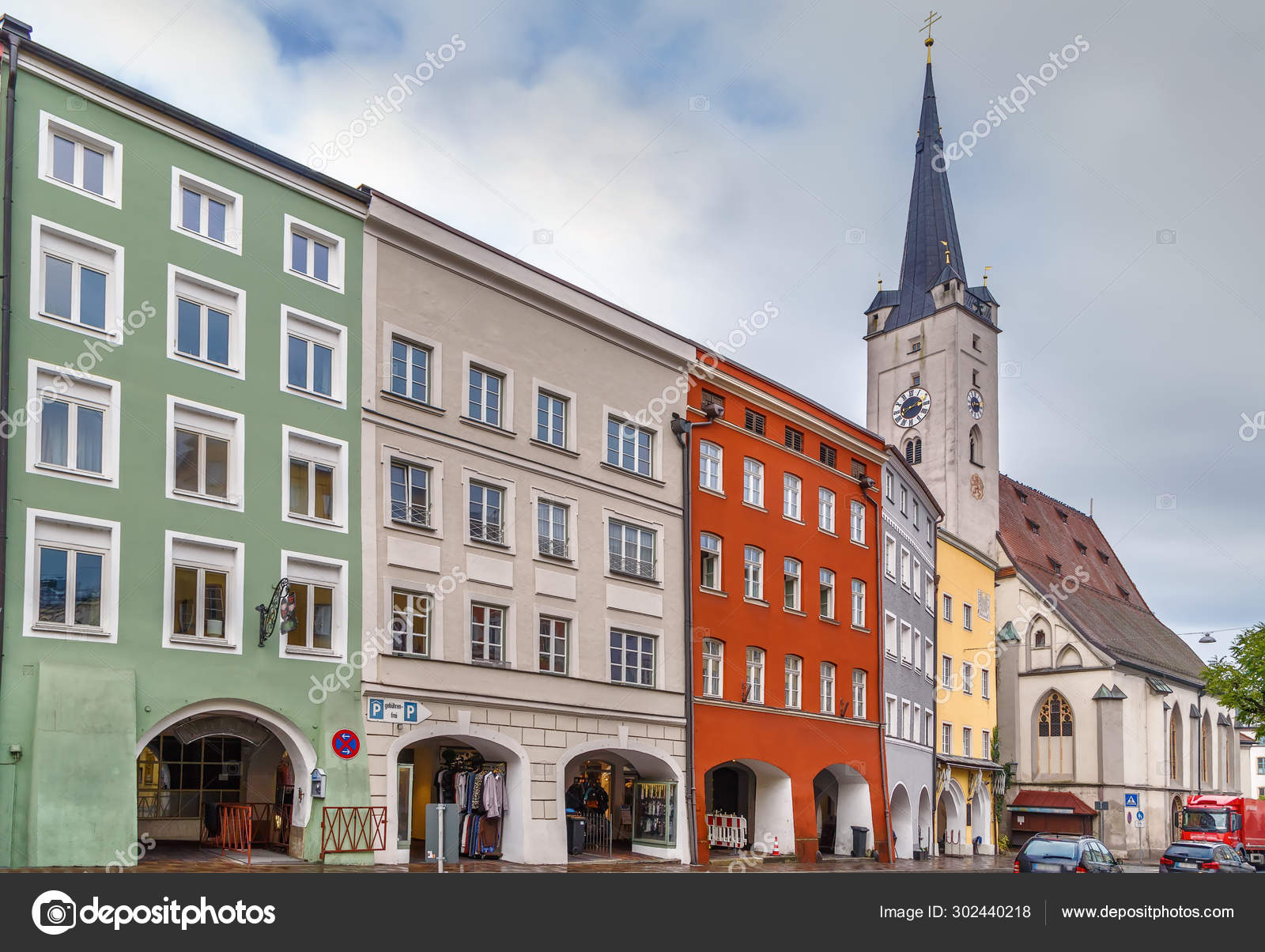 Wasserburg Am Inn Germania street in wasserburg am inn, germany – stock editorial photo