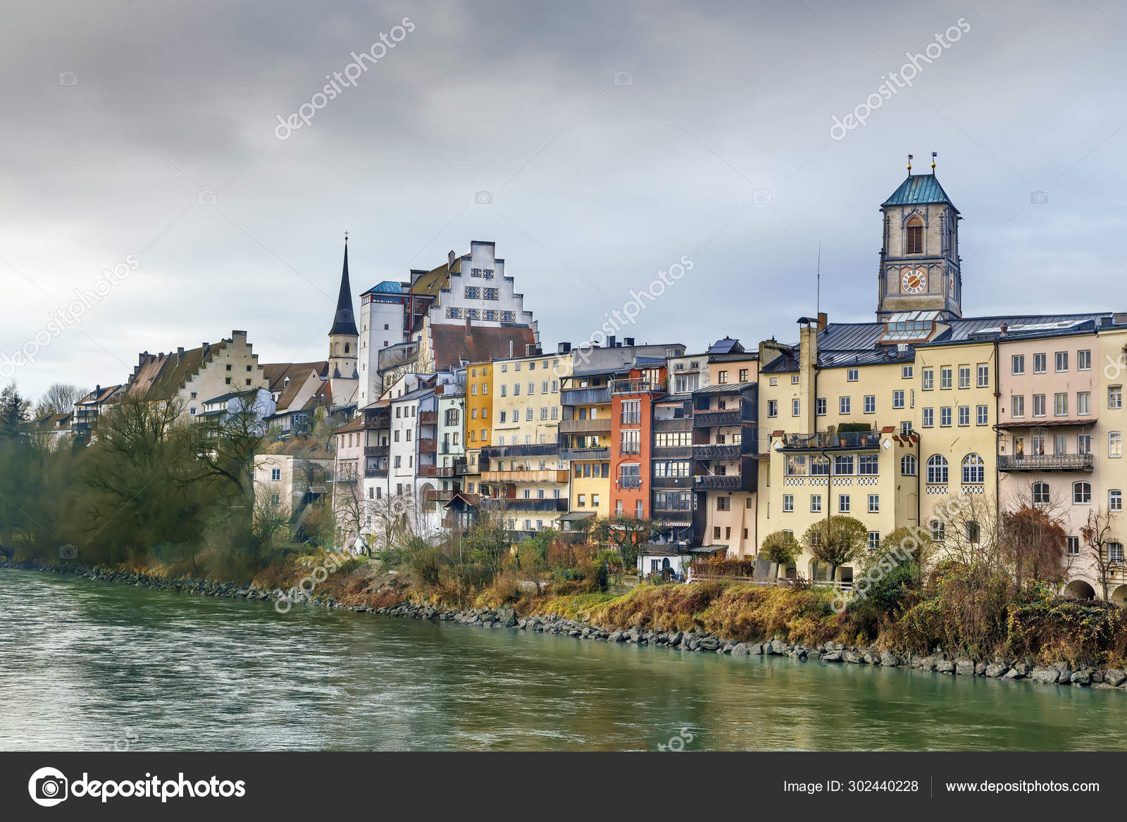 Wasserburg Am Inn Germania view of wasserburg am inn, germany — stock photo © borisb17
