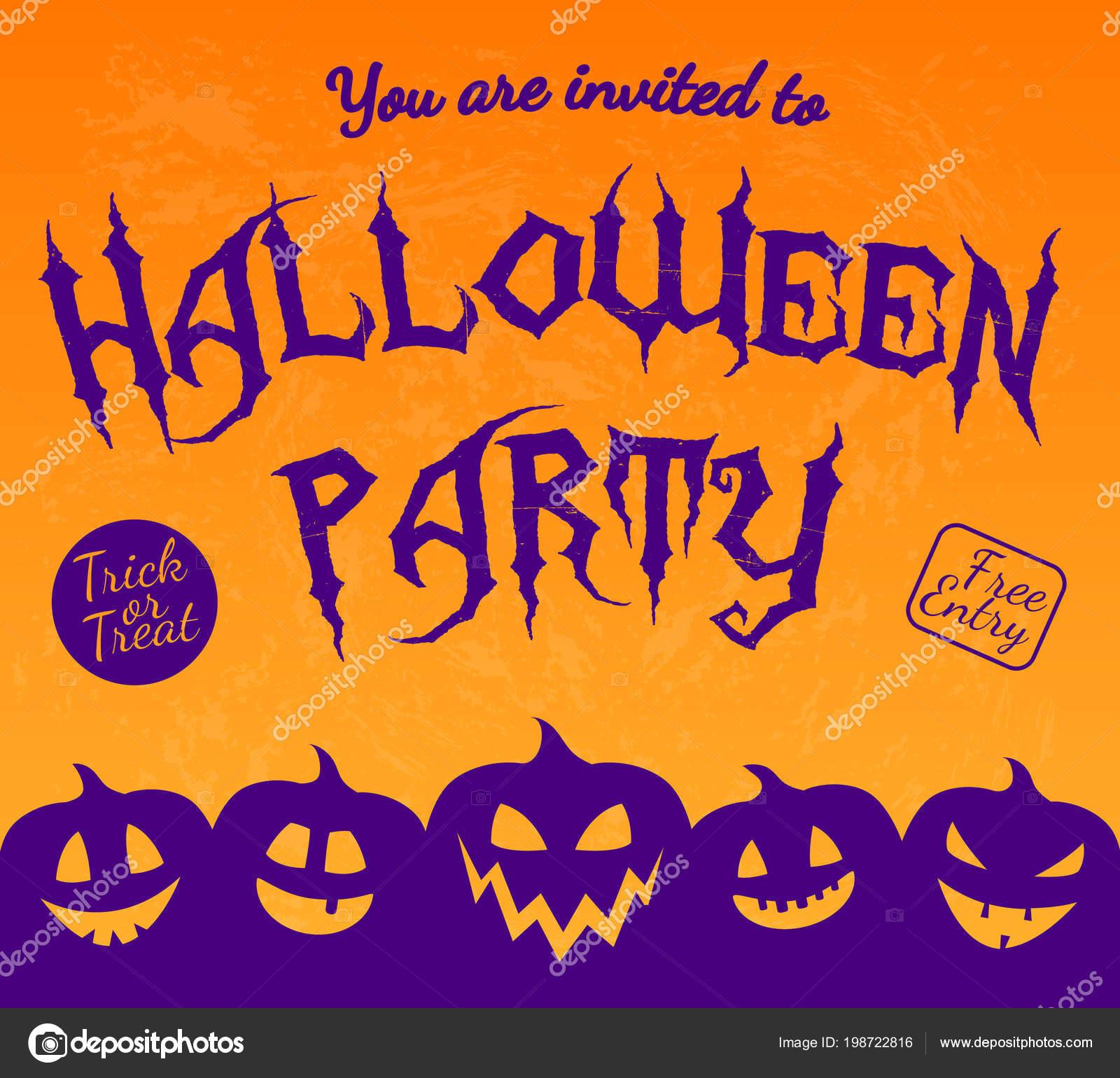 Invitation halloween party silhouette pumpkins vector vetor de invitation halloween party silhouette pumpkins vector vetor de stock stopboris Images