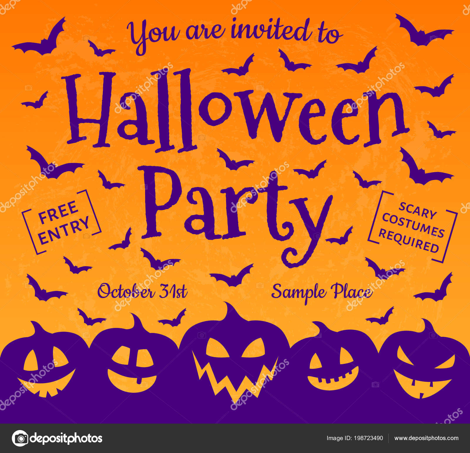 Scary invitation halloween party vector vetores de stock scary invitation halloween party vector vetores de stock stopboris Images
