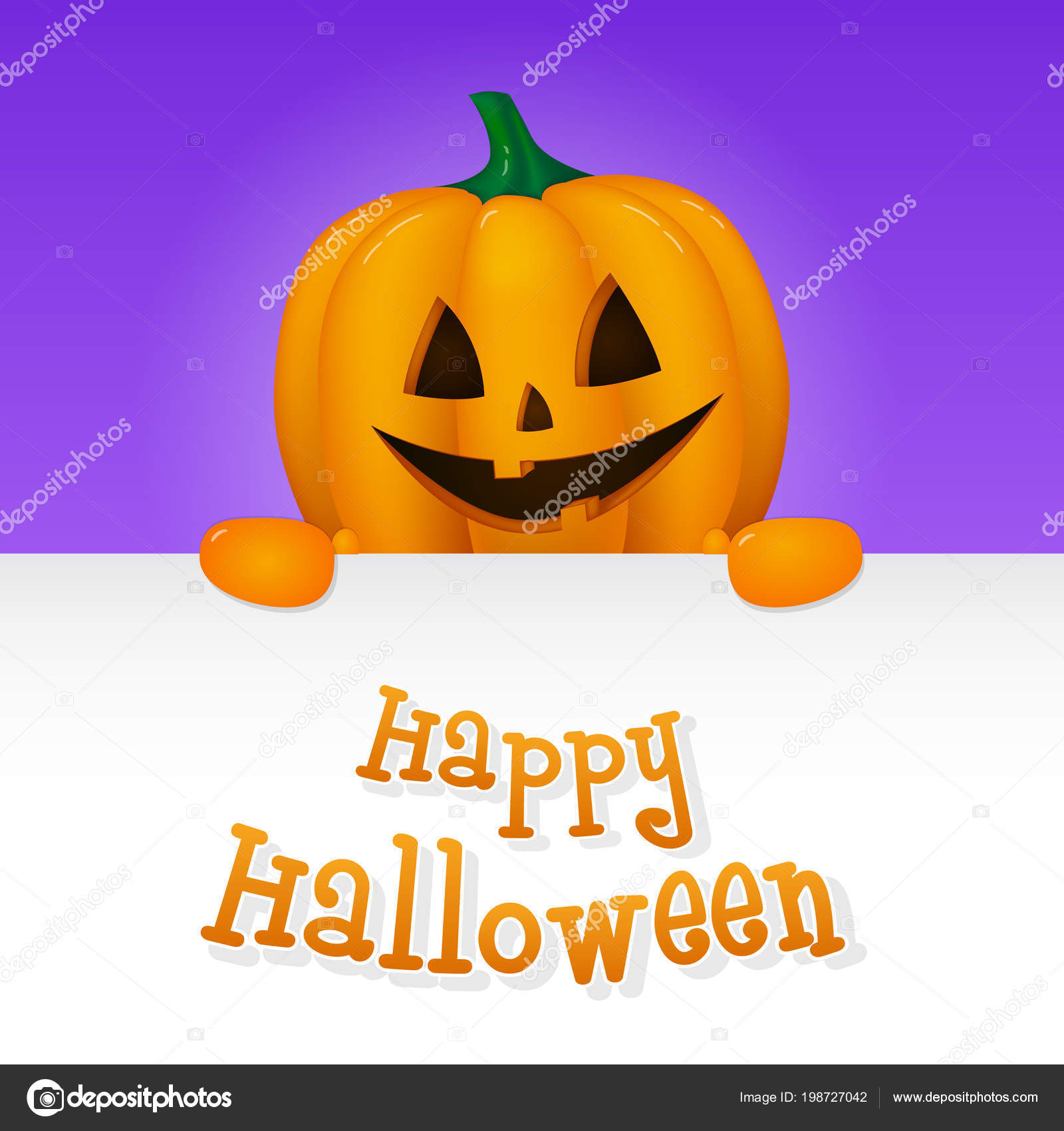 happy halloween concept card wit wishes vector — stock vector