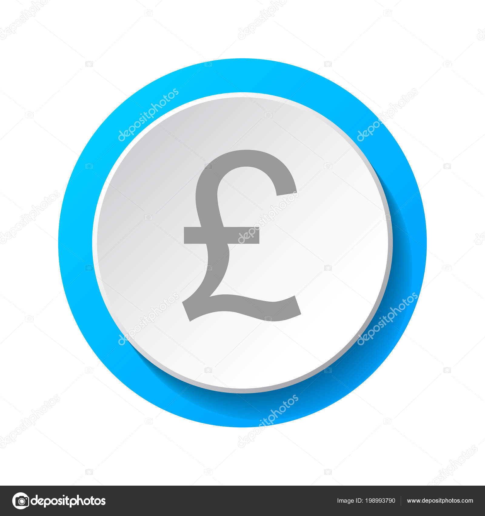 Symbol British Currency British Pound Icon Vector Stock Vector