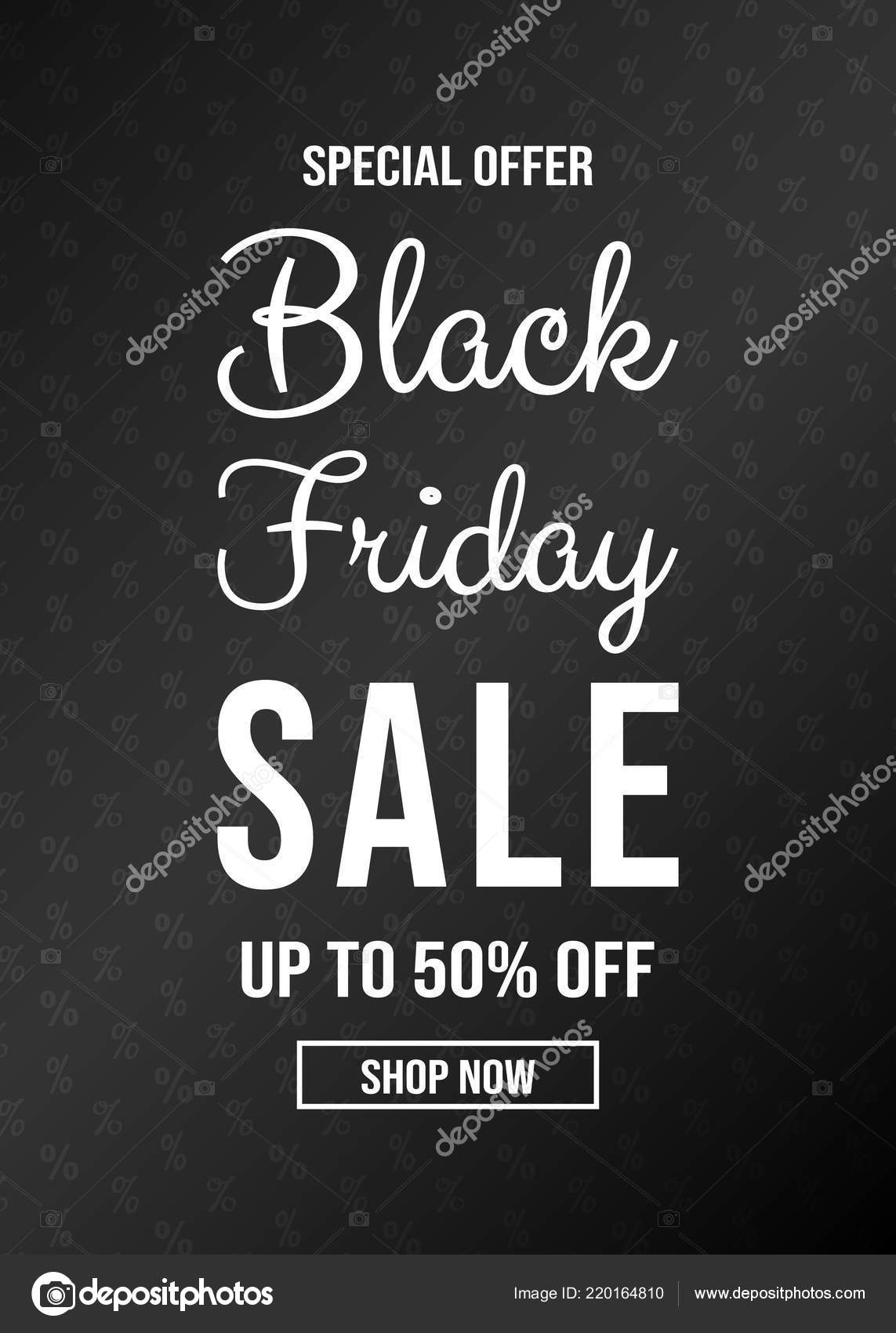 black frida sale flyer background percents text vector stock