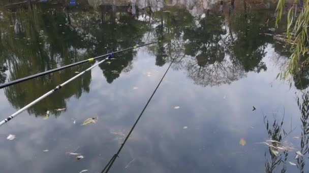 China. Beijing. October 2018. Tsinghua University. Fishermans in the former royal Tsinghua Garden.