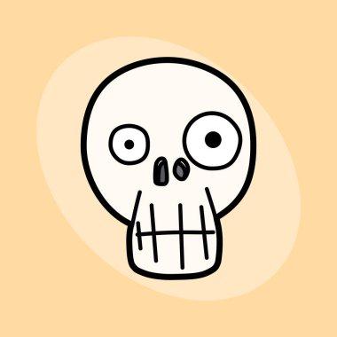 Simple cartoon skull. Vector illustration.