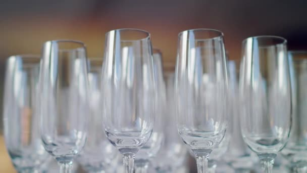 Glasses for champagne at wedding