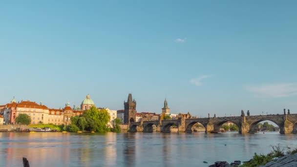 Prague Charles Bridge / Time Lapse Video 4K