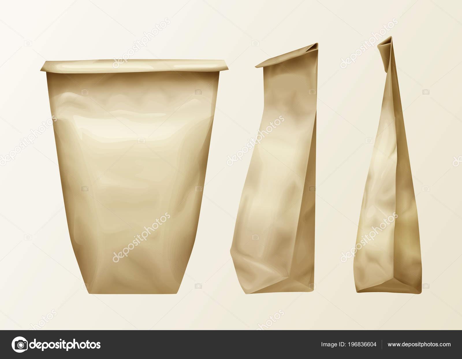 cb225b2880 Διάνυσμα ρεαλιστική τσαλακωμένο χαρτί τσάντα διάφορα δείτε ορισμός.  Μεσημεριανό γεύμα σε πακέτο ή τα τρόφιμα σνακ