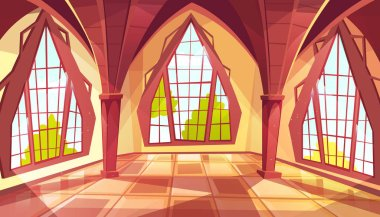 Ballroom or palace windows vector illustration