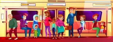 People social issue in subway vector illustration
