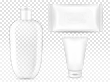 Cosmetic container and package vector illustration