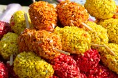 Photo Puffed rice is a type of puffed grain made from rice, commonly used in breakfast cereal or snack foods