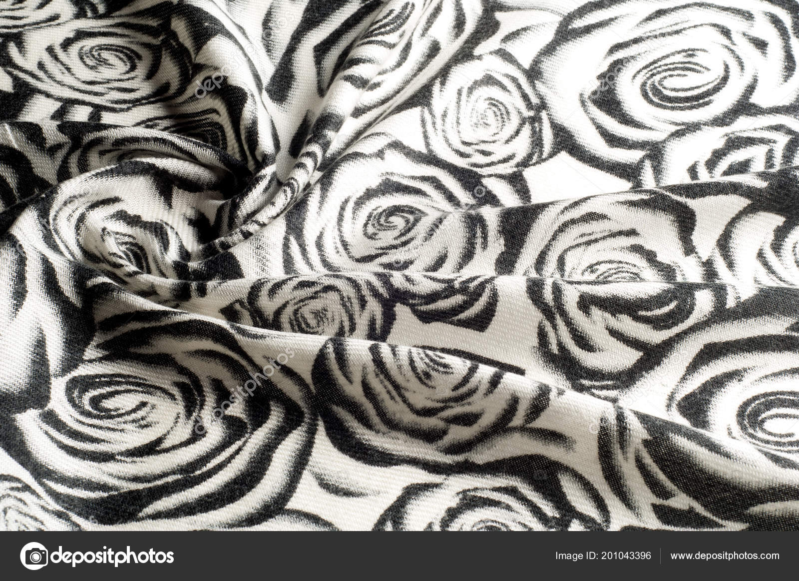 bc0b0b772e Texture Sfondo Modello Rose Una Sciarpa Lana Bianco Nero Sono — Foto ...