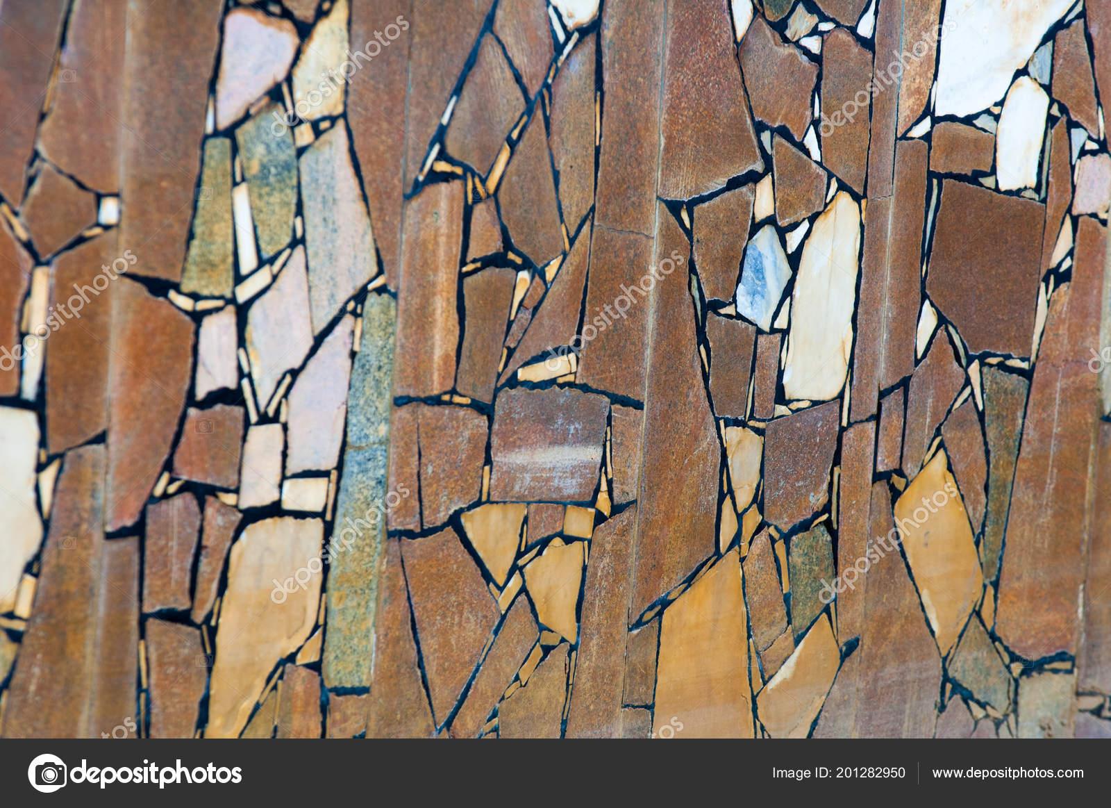 Textuur achtergrond patroon voering van het oude zwembad graniet