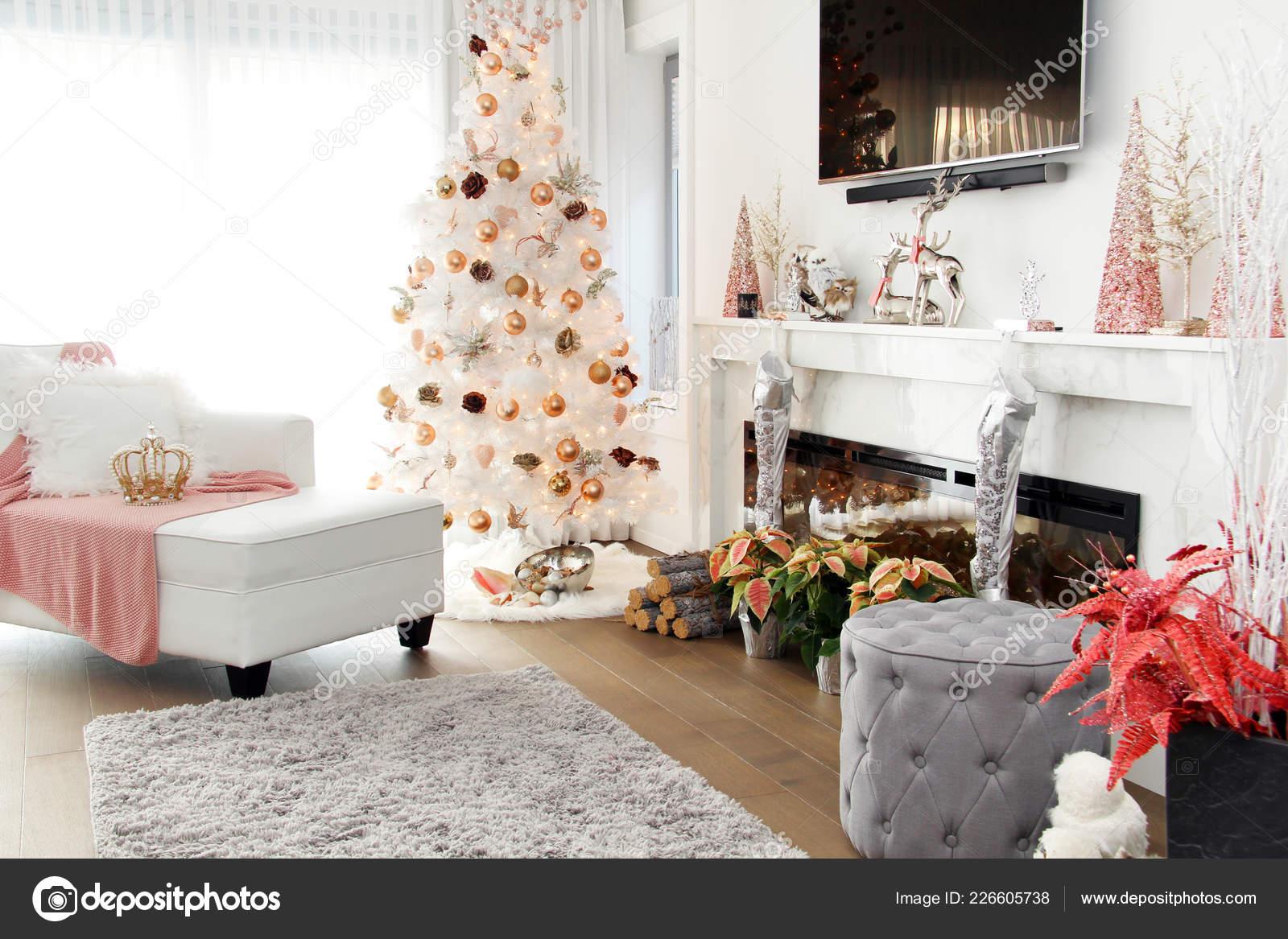 Contemporary Christmas Tree.White Contemporary Christmas Tree Plush Loveseat Sofa