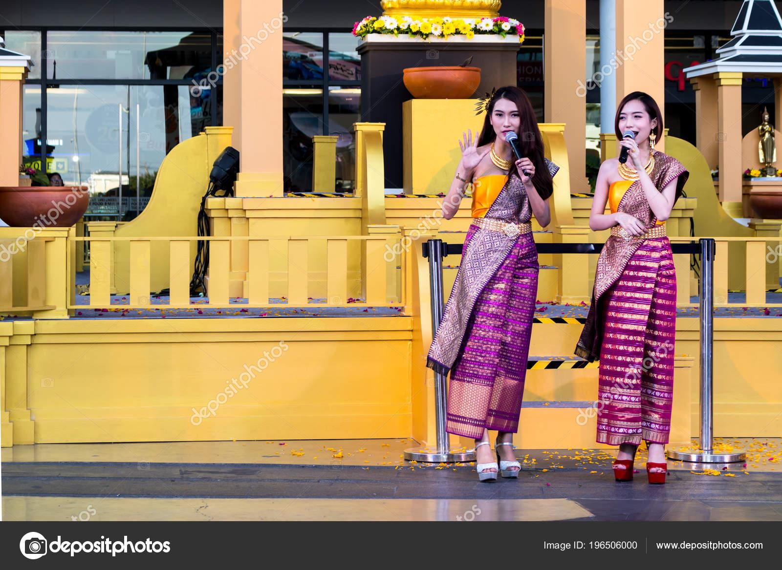 Bangkok Thailand 2018 April Thai Beautiful Women Dressing