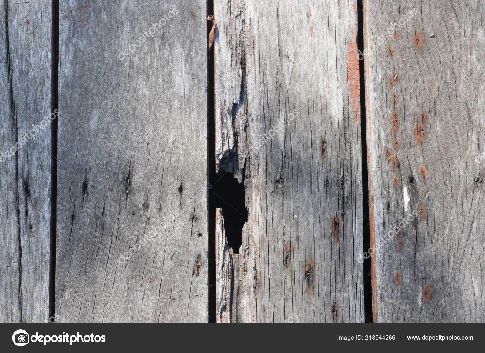 Wooden Floor Made Old Wooden Boards Beautiful Patterns Rust Metal