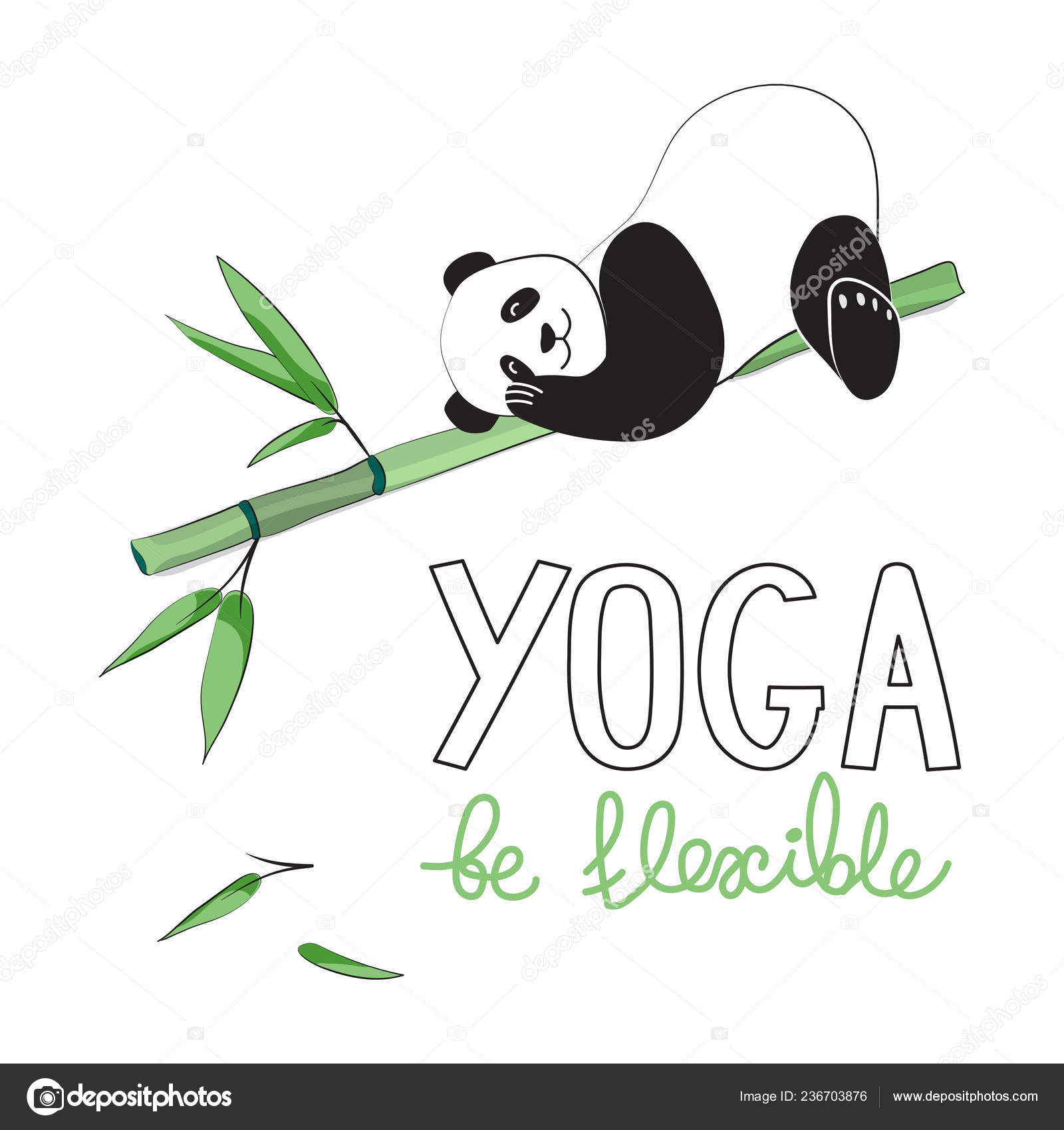 Panda Yoga Style Comic Book Design Sticker Patch Poster