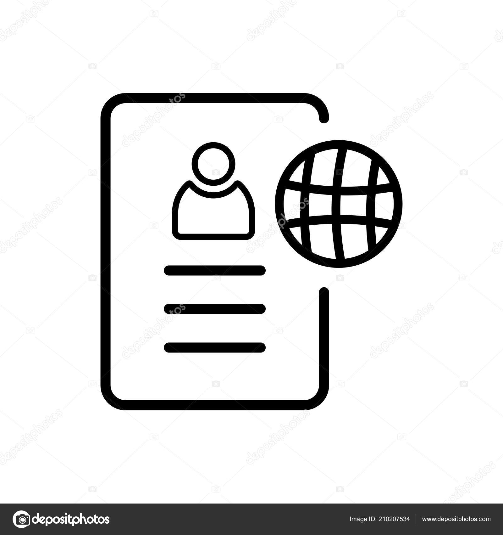 Resume Icon Isolated White Background Your Web Mobile App Design