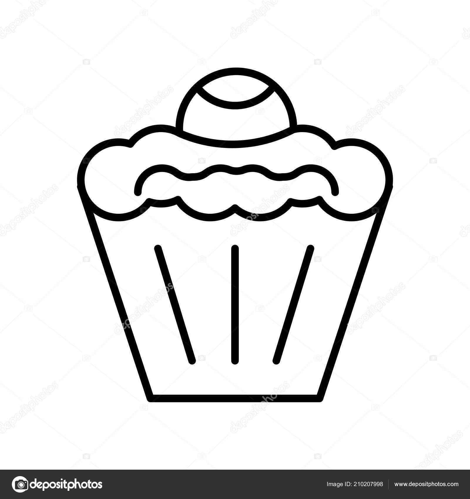 Kuchen Icon Vektor Isoliert Auf Weißem Hintergrund Kuchen
