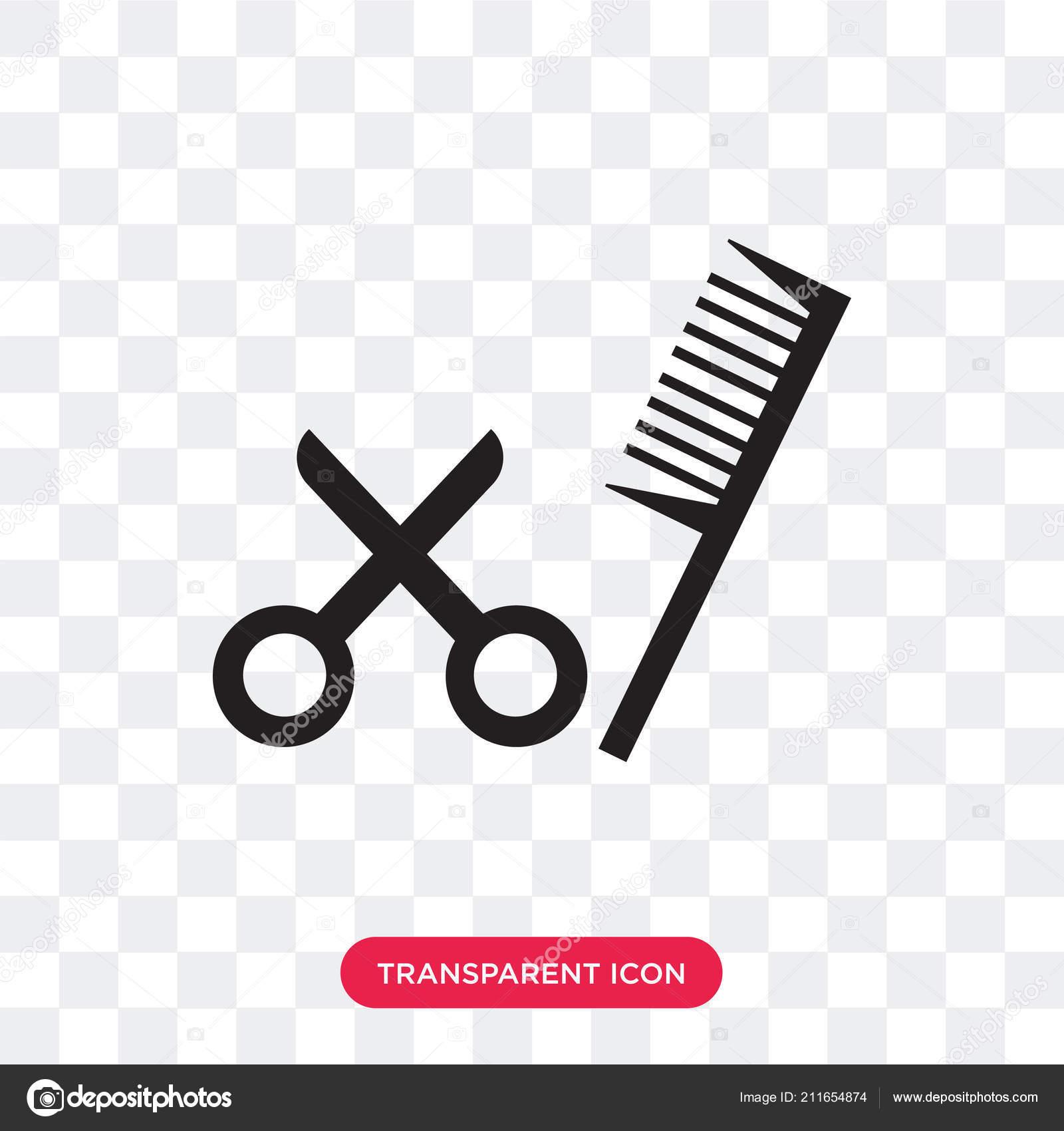 Friseur Schere Vektor Icon Isoliert Auf Transparente Hinterg