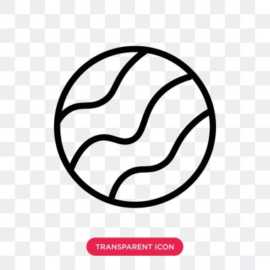 Planet vector icon isolated on transparent background, Planet lo