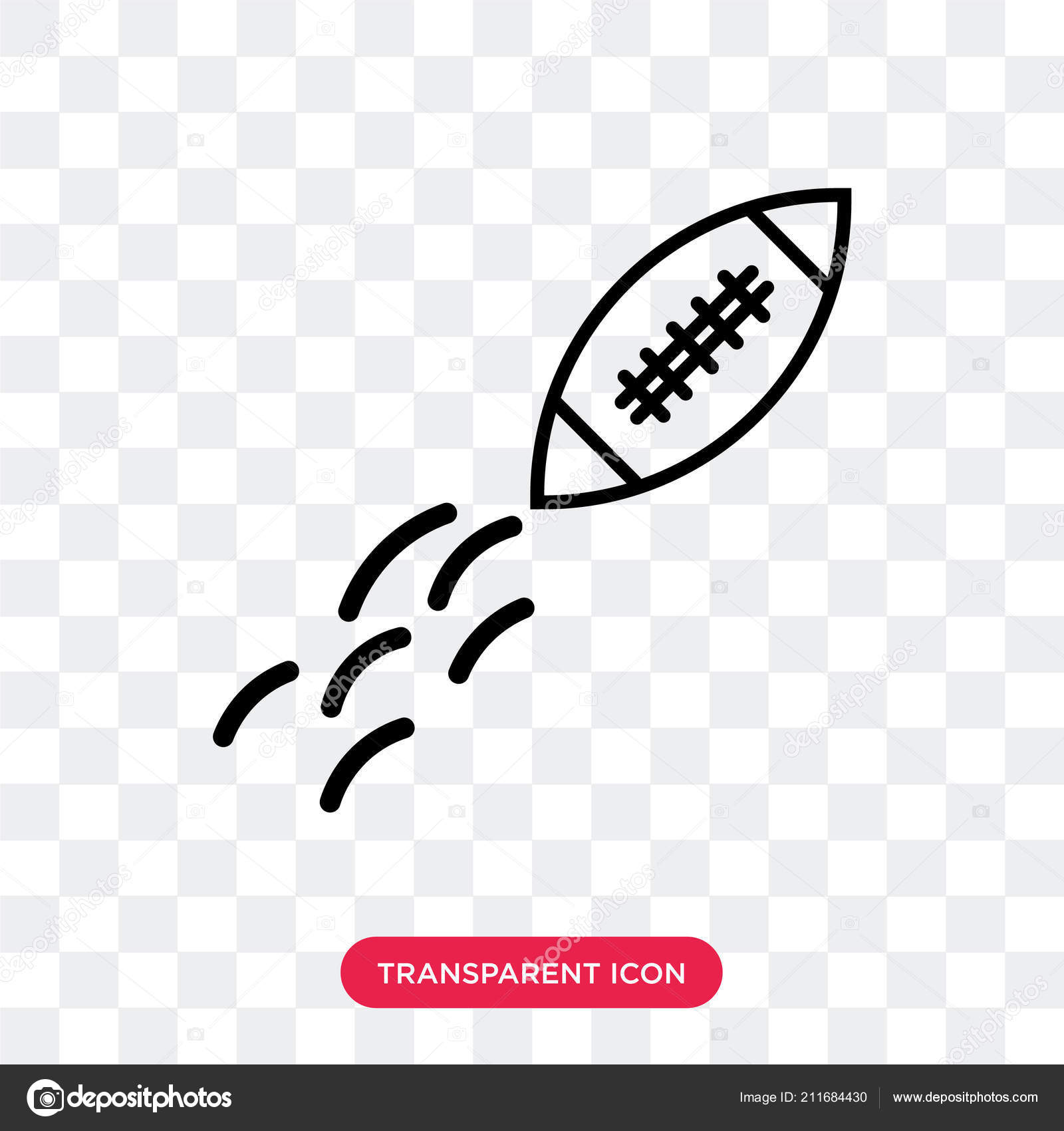 Fast Football Ball Vector Icon Isolated On Transparent Backgroun
