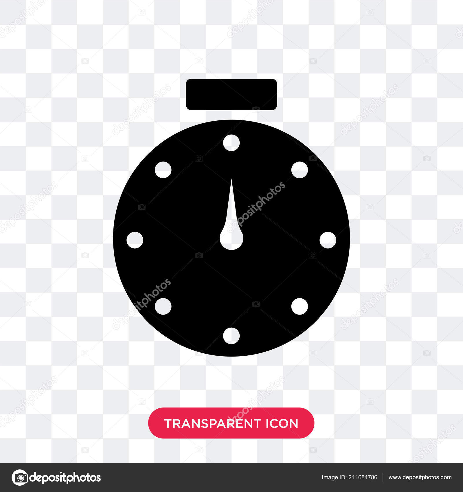 Stopwatch vector icon isolated on transparent background