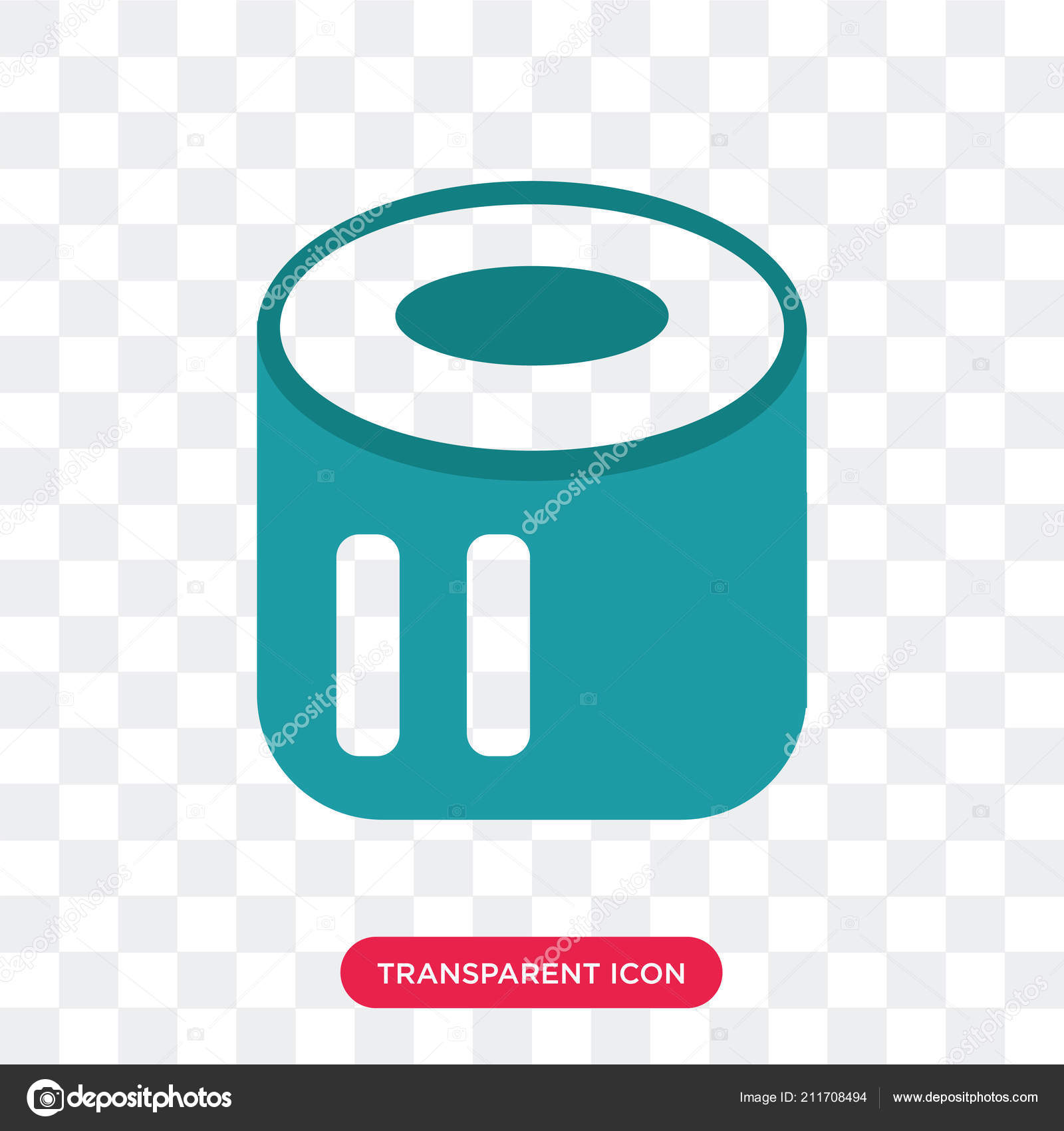 Toilet Paper Vector Icon Isolated On Transparent Background Toi