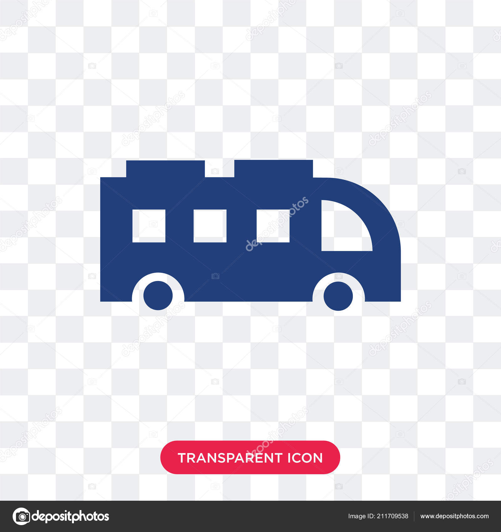 bus vector icon isolated on transparent background bus logo des