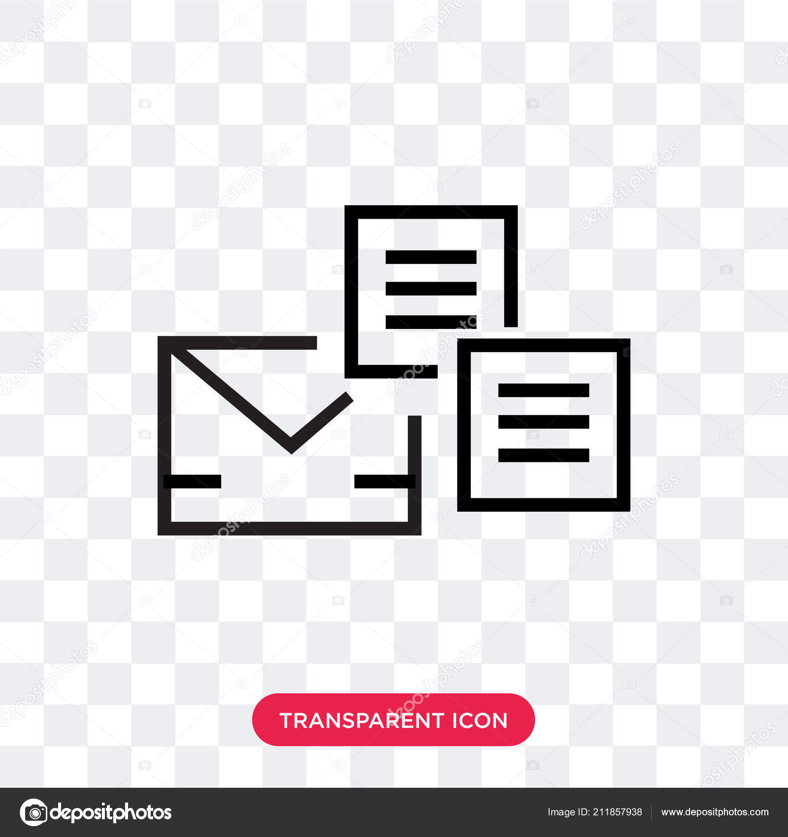 mail vector icon isolated on transparent background mail logo d