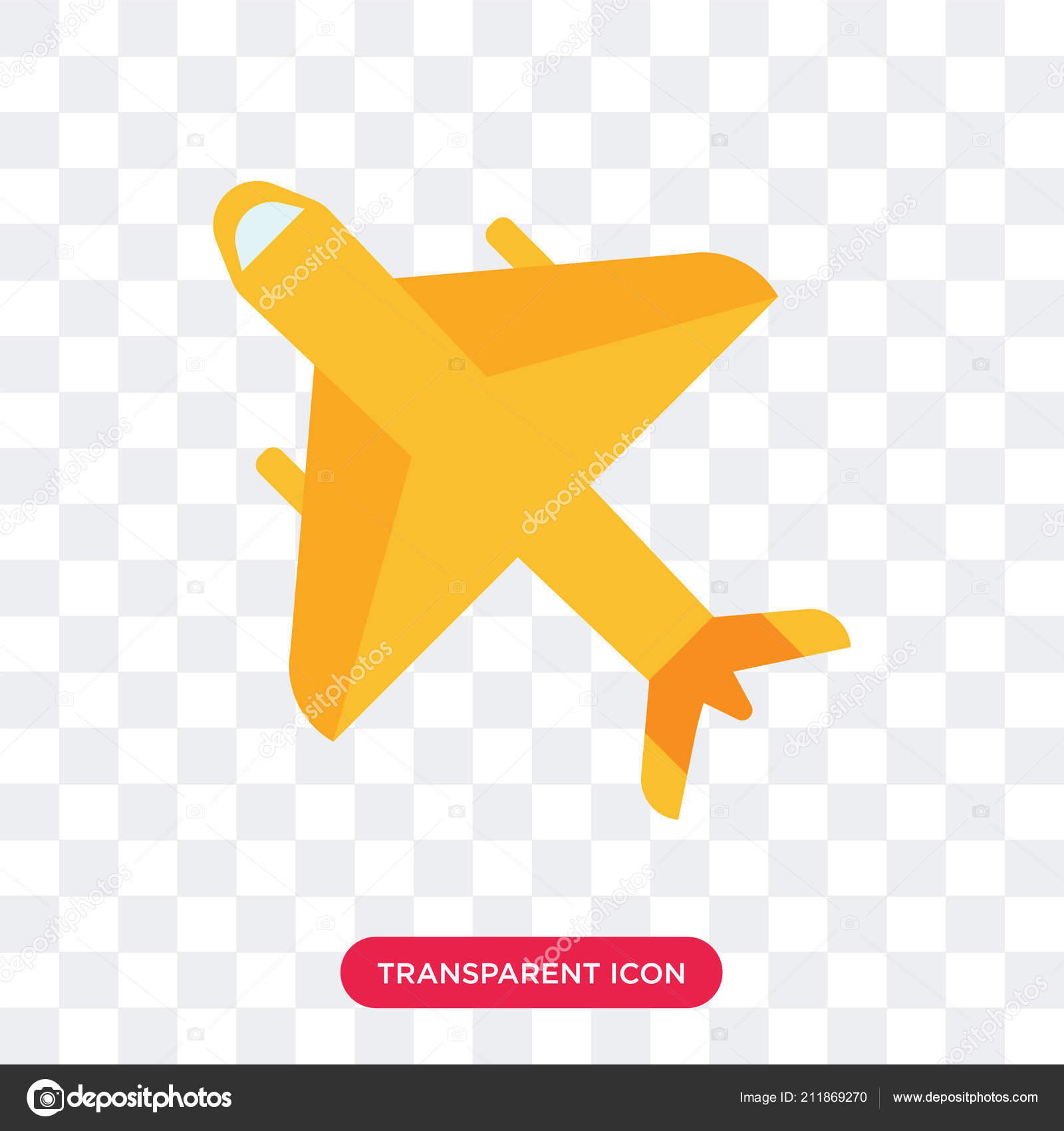 transparent airplane vector png