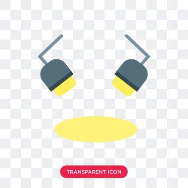 Spotlight vector icon isolated on transparent background, Spotli