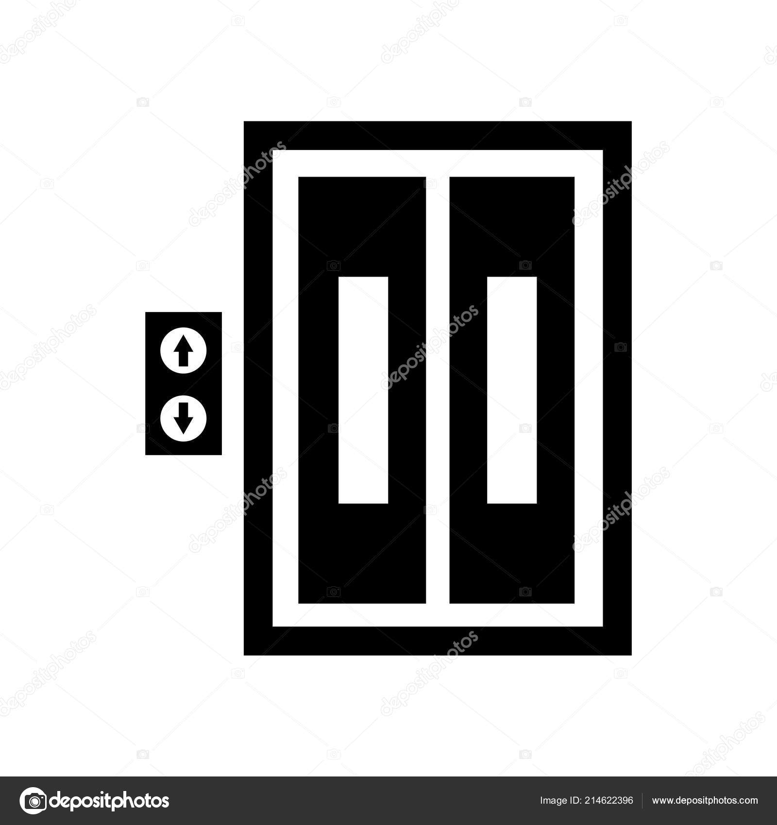 Lift Icon Vector Isolated White Background Lift Transparent