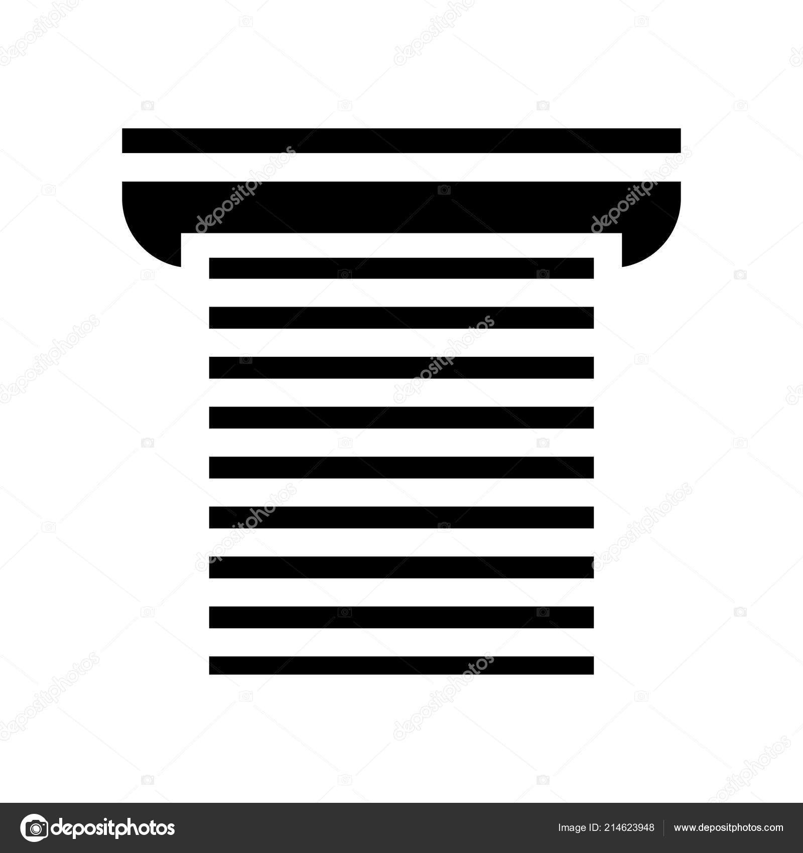 Icon Shutter Door Symbol Roller Shutter Door Icon Vector
