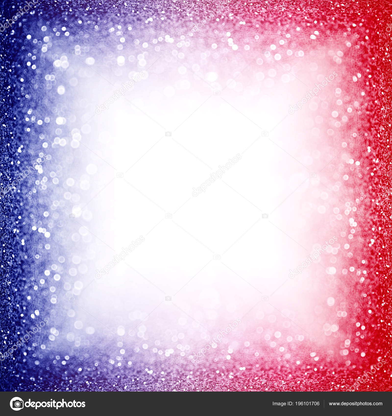 Abstract Patriotic Red White Blue Glitter Sparkle Background