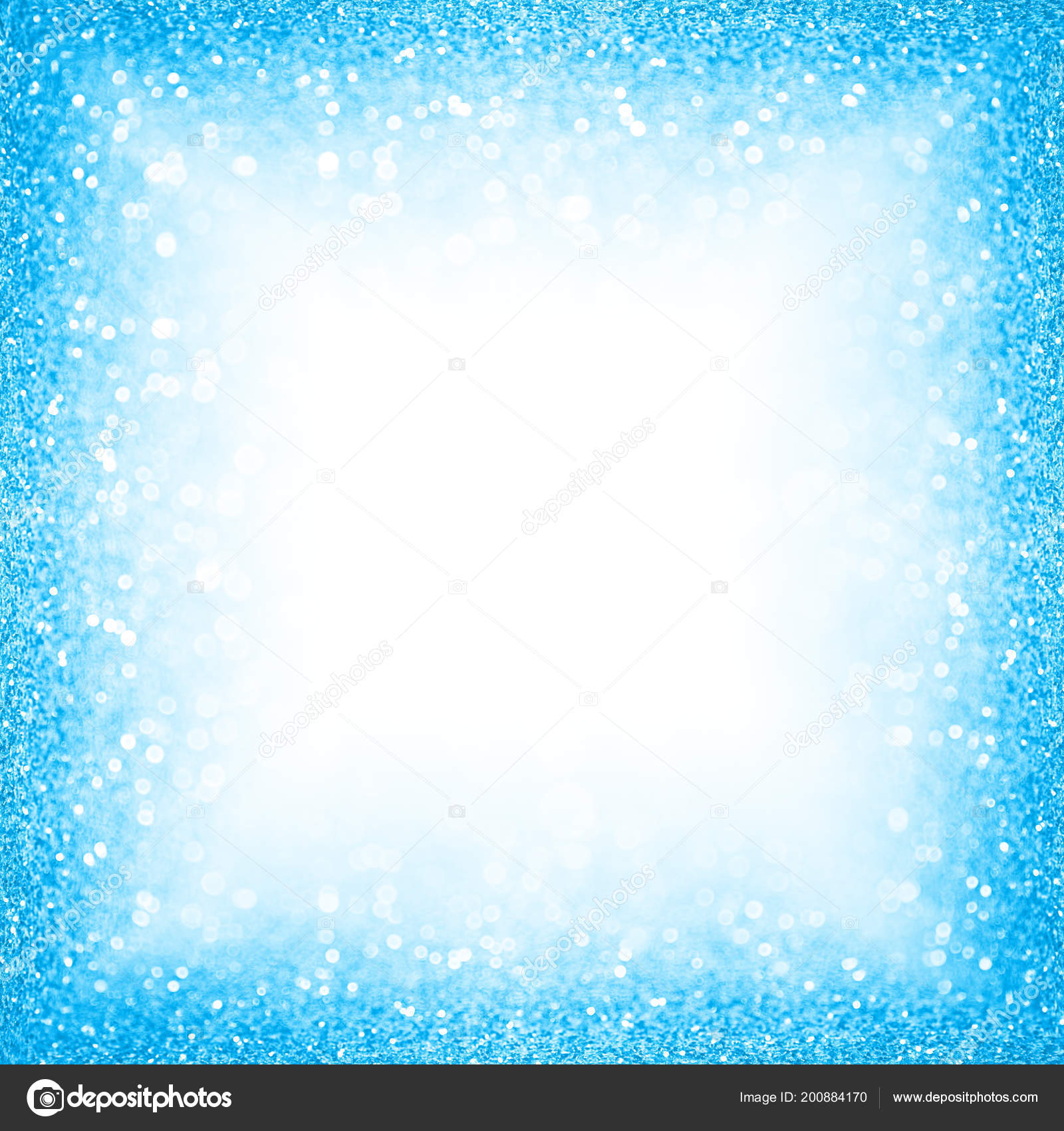 Abstract Blue Glitter Sparkle Background Happy Birthday Confetti ...