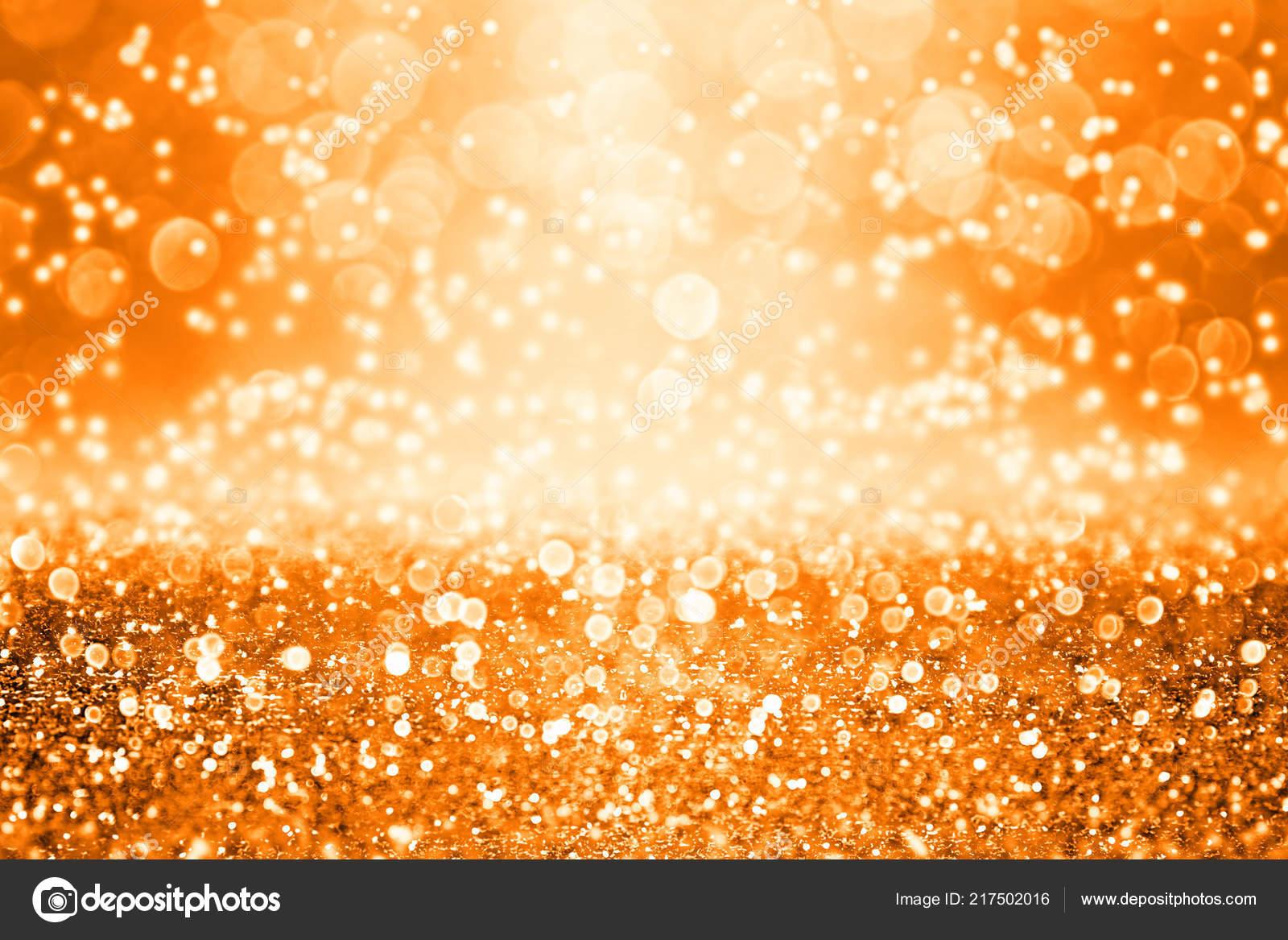 Sparkle Glitter Nero Arancione Scuro Astratto Sfondo Coriandoli Buon