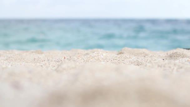 Homokos strand, a gyönyörű smaragd tenger közelében