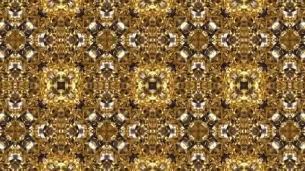 Geometrické valčík Golden kaleidoskop vzorů