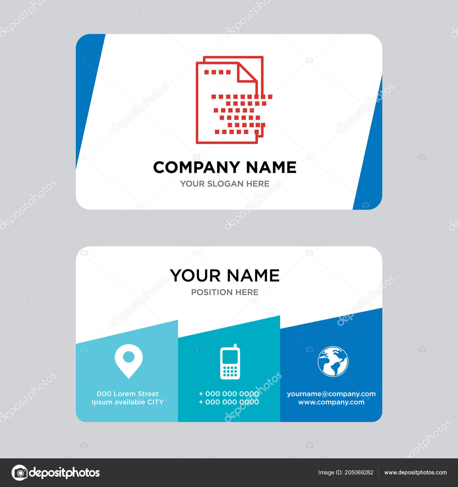 File Business Card Design Template Visiting Your Company Modern