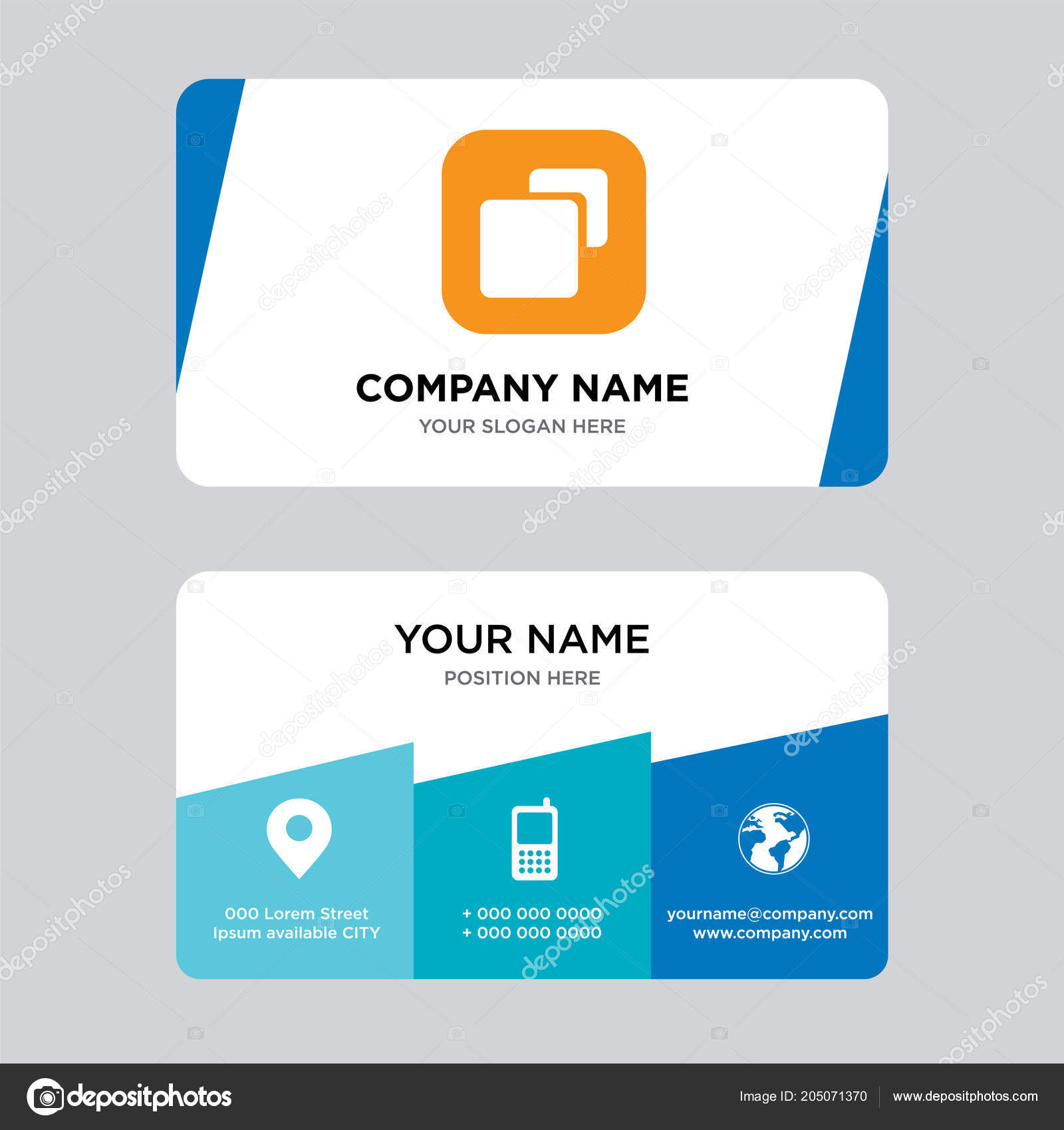 Size Business Card Design Template Visiting Your Company Modern ...