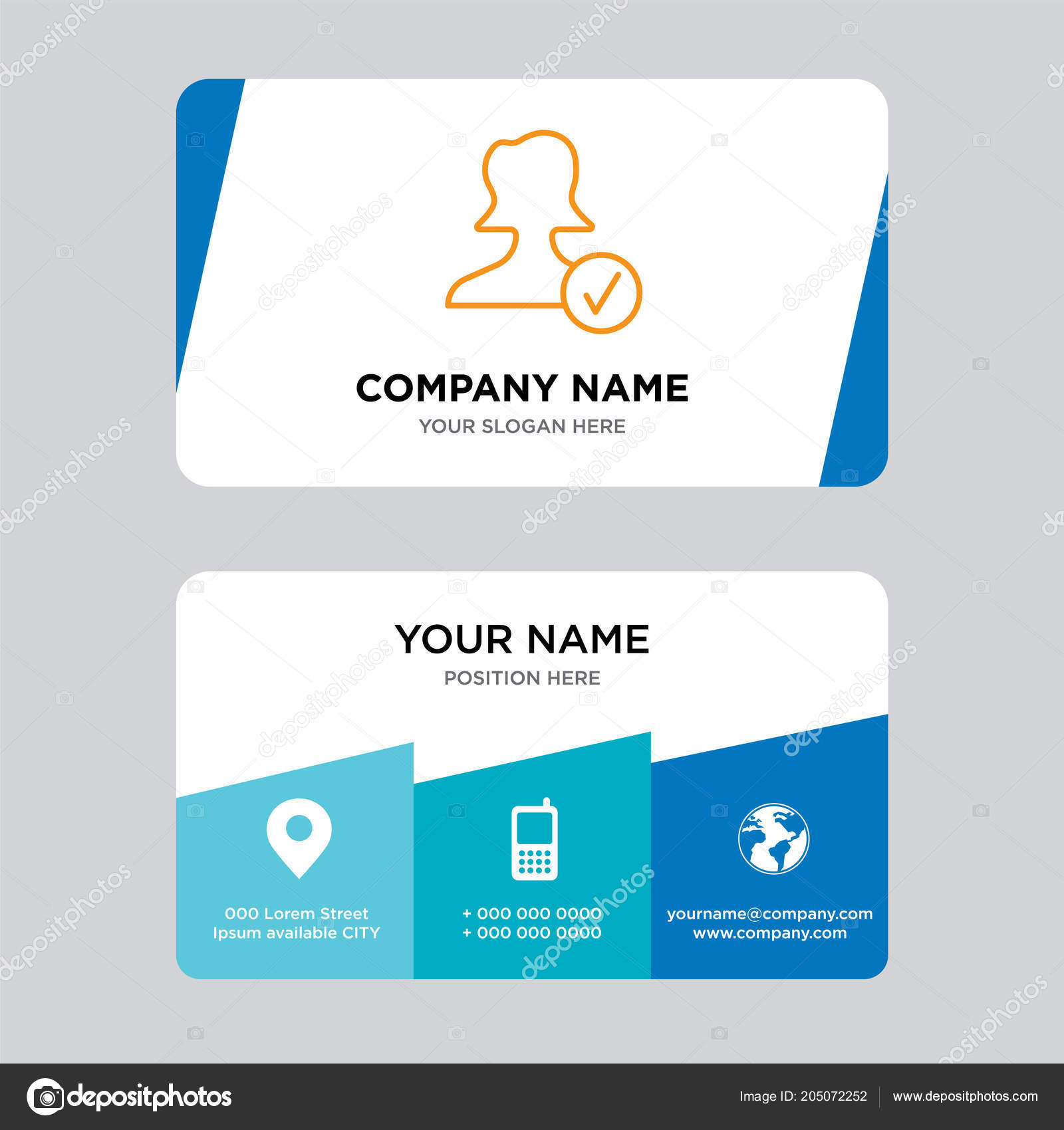 Avatar business card design template visiting your company modern avatar business card design template visiting your company modern creative fotografia de stock reheart Gallery