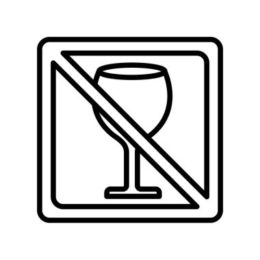 No drinks icon vector isolated on white background for your web and mobile app design, No drinks logo concept